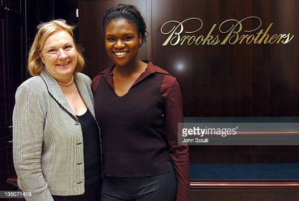 Christine Ginther and Meagan Mullen during Brooks Brothers Host a Cocktail Reception to Benefit the Maple Counseling Center at Brooks Brothers in...
