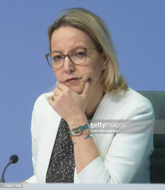 Christine Graeff Director General Communications of the European Central Bank on January 23 2020 in Frankfurt during the press conference