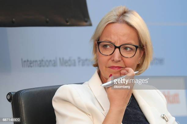 Christine Graeff director general for communications at the European Central Bank looks on during a panel discussion at the German Institute for...