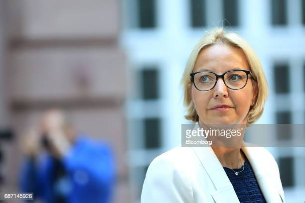 Christine Graeff director general for communications at the European Central Bank looks on during the German Institute for Economic Research in...