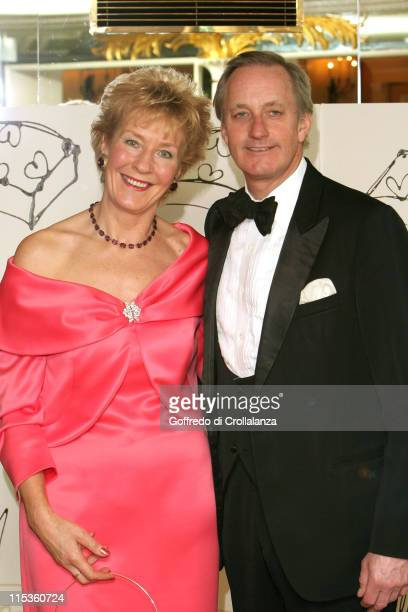 Christine Hamilton and husband Neil Hamilton during The Chocolate Ball in Aid of Sargent's Cancer Care at The Dorchester Hotel in London Great Britain