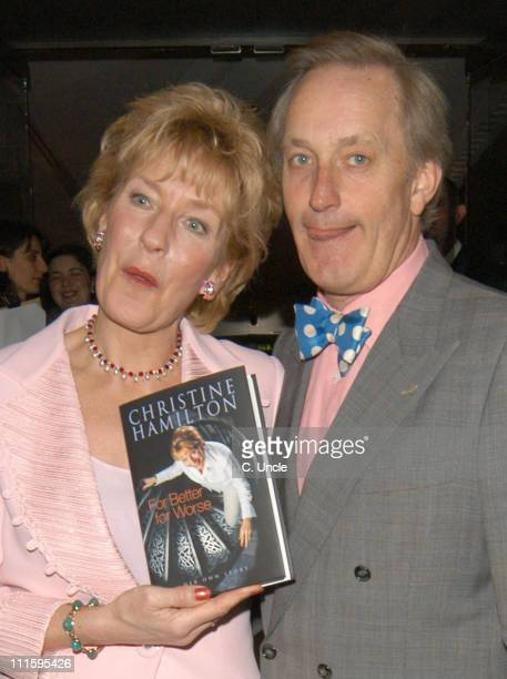 Christine Hamilton and Neil Hamilton during Christine Hamilton's Book 'For Better or Worse' Launch Party at Mandeville Hotel in London Great Britain