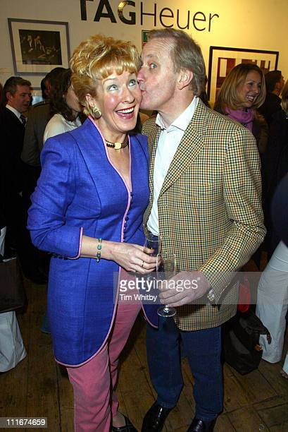 Christine Hamilton and Neil Hamilton during GQ Magazine Present '50 Best Dressed Men Ever' Preview at Getty Images Gallery in London Great Britain