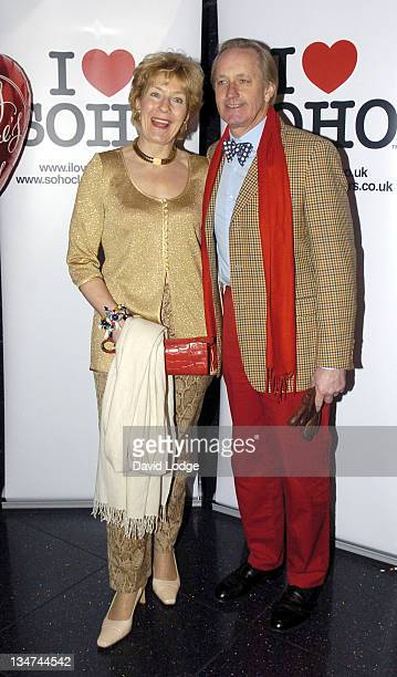Christine Hamilton and Neil Hamilton during 'I Love Soho' Campaign Launch Party at Too2Much in London Great Britain