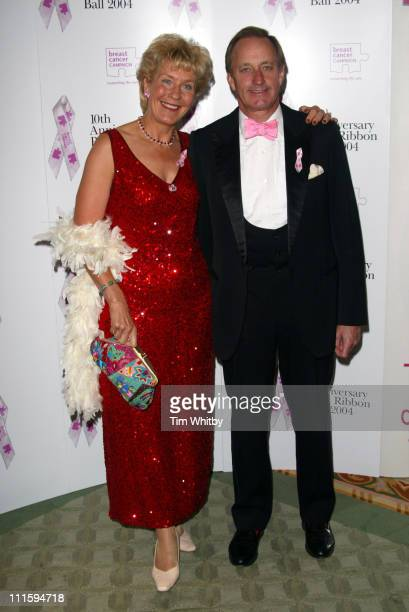 Christine Hamilton and Neil Hamilton during The 10th Anniversary Pink Ribbon Ball at Dorchester Hotel in London Great Britain