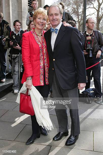 Christine Hamilton and Neil Hamilton during TRIC Awards 2007 Outside Arrivals at Grosvenor House in London Great Britain