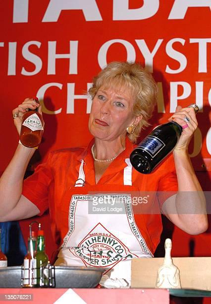 Christine Hamilton during British Oyster Opening Championships at Bibendum Oyster Bar in London Great Britain