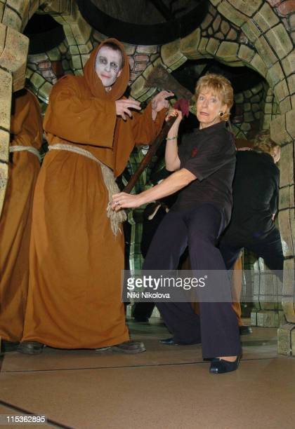 Christine Hamilton during Christine Hamilton Launches the London Dungeon Labyrinth of the Lost at The London Dungeon in London Great Britain