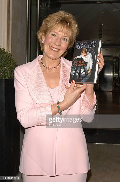 Christine Hamilton during Christine Hamilton's Book 'For Better or Worse' Launch Party at Mandeville Hotel in London Great Britain