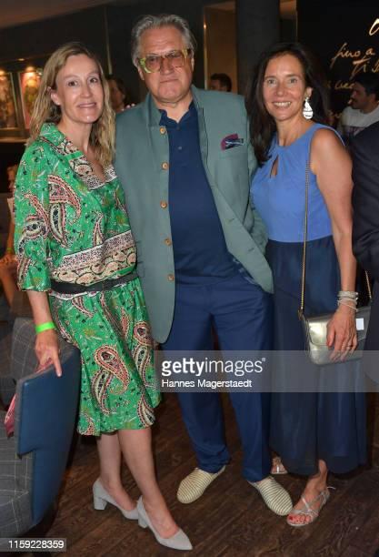 Christine Hartmann Michael Brandner and Karin Brandner attend the Scenario SommerCocktail 2019 during the Munich Film Festival at The Charles Hotel...