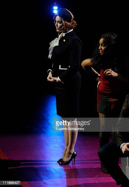 Christine Hendricks and Anika Noni Rose perform in the 2011 New York Philharmonic Orchestra Spring Gala Benefit Performance Of Stephen Sondheim's...