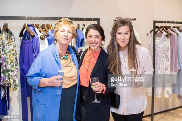 Christine Huber from left Liana Mestas and Leah Huber at Max Mara's Newbury St location as it celebrates Boston ICA's Watershed Gala on May 1 2018 in...