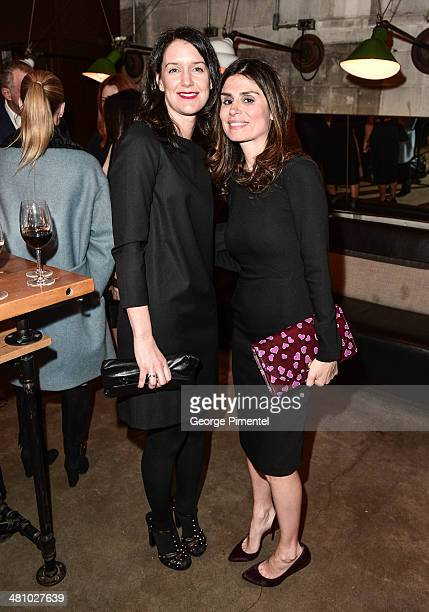 Christine Iacuzzo and Florinka Pesenti attends the Vanity Fair And Gucci Private Dinner at Gusto 101 on March 27 2014 in Toronto Canada