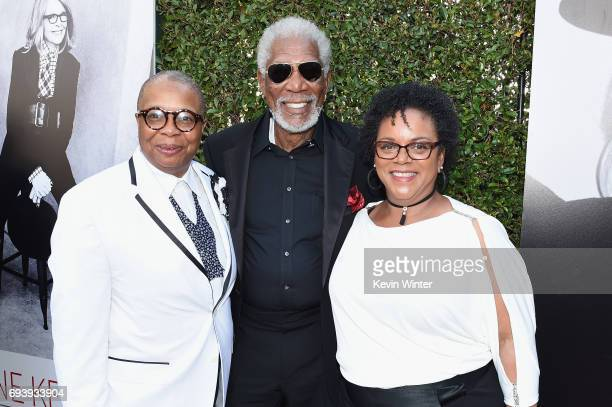Christine Johnson actor Morgan Freeman and Deena Adair arriveat American Film Institute's 45th Life Achievement Award Gala Tribute to Diane Keaton at...
