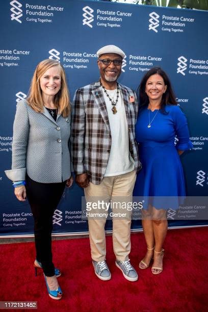 Christine Jones James Pickens Jr and Colleen McKenna attend the Prostate Cancer Foundation Kicks Off Prostate Cancer Awareness Month With Light It...