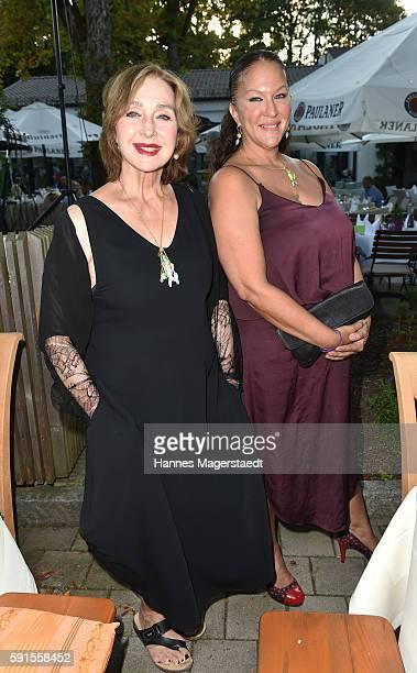 Christine Kaufmann and her daughter Allegra Curtis during 'La Dolce Vita Grillfest' at Gruenwalder Einkehr on August 17 2016 in Munich Germany