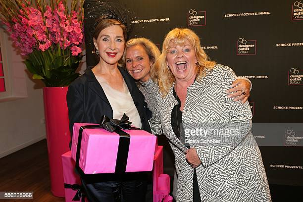 Christine Kaufmann Sylvie Mutschler and Inger Nilsson during the late night shopping at Designer Outlet Soltau on August 5 2016 in Soltau Germany