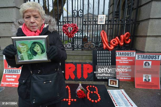 Christine Keegan a mother of Mary and Martina who were among the 48 victims of the Stardust nightclub fire on Valentine's day in 1981 holds the...