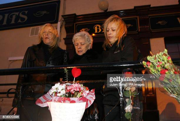 Christine Keegan who lost two daughters in the Stardust fire with her surviving daughters Antoinette and Lorraine who have joined and relatives of...
