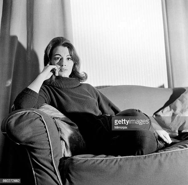 Christine Keeler 20 pictured here in her flat She figures in a case at the Old Bailey next week in which a man is accused of shooting with intent to...