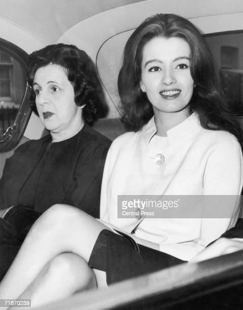Christine Keeler and her housekeeper Olive Brooker on their way to Marylebone Court London where they and Paula HamiltonMarshall are to face charges...