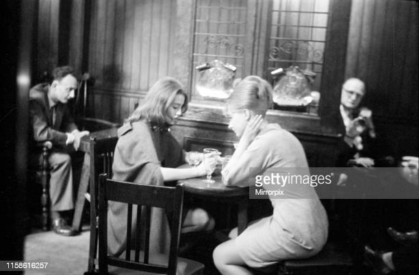 Christine Keeler and Mandy Rice-Davies taking a break from the trial of society osteopath Stephen Ward at the Old Bailey on Monday 22nd July 1963....