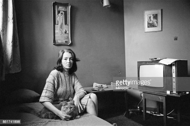 Christine Keeler in her London flat 19th June 1980
