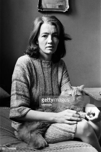Christine Keeler in her London flat, 19th June 1980.