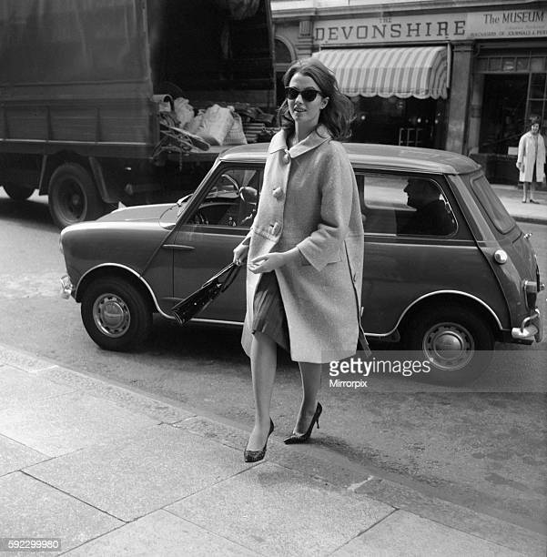 Christine Keeler returning to her Devonshire Street flat after visiting the police 20th June 1963