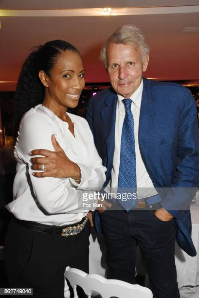 Christine Kelly and Patrick Poivre D'Arvor attend the 'Gala de L'Espoir' Auction Dinner Against Cancer at the Theatre des Champs Elysees on October...