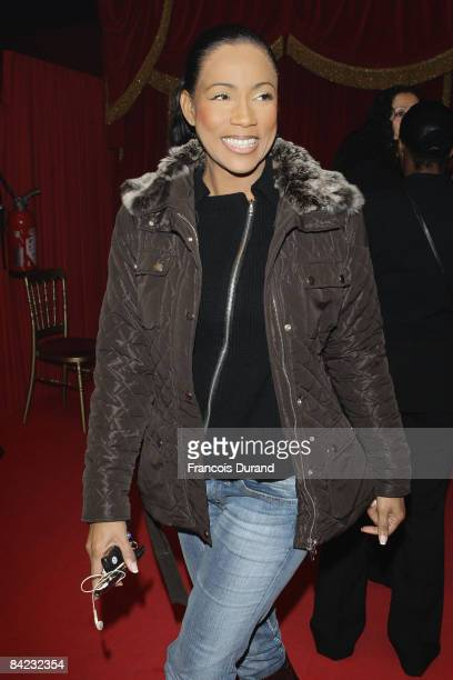Christine Kelly attends the 'Gala de la Presse' organised by the Action Innocence Association on January 9 2009 in Chapiteau of Phoenix Circus in...