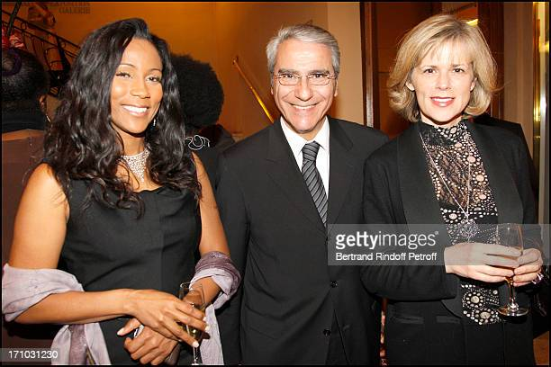 Christine Kelly Norbert Balit and wife Laurence Piquet at The 16th Amnesty International Musique Contre L'Oubli Concert At Theatre Des Champs Elysees...