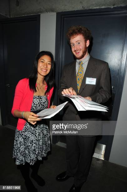 Christine Kim and Christopher Bowman attend In the Studio A Celebration of the Young Arts Gold and Silver Winners at Baryshnikov Arts Center and...