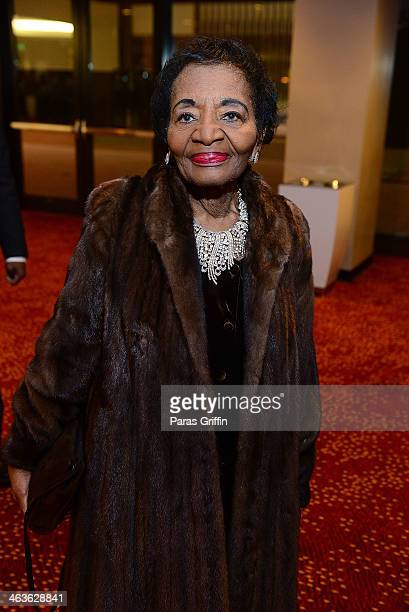 Christine King Farris attends the 2014 Salute To Greatness Awards Dinner at the Hyatt Regency on January 18 2014 in Atlanta Georgia