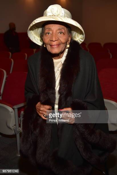 Christine King Farris attends UNSOLVED HISTORY Life of a King Atlanta Screening at Martin Luther King Jr National Historic Site on March 25 2018 in...