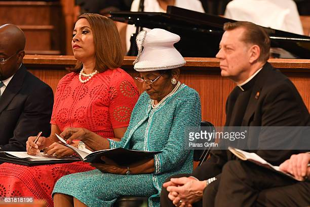 Christine King Farris onstage at 2017 The Martin Luther King Jr Annual Commemorative Service at Ebenezer Baptist Church on January 16 2017 in Atlanta...