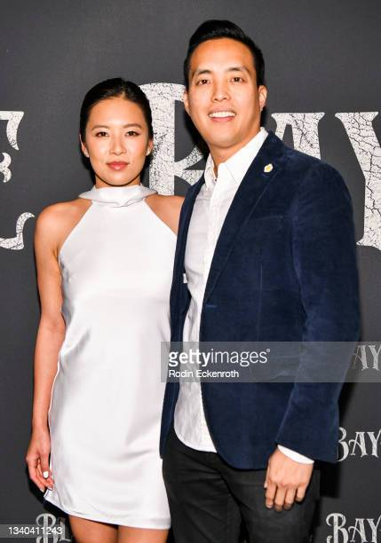 """Christine Ko and Alan Yang attend the Los Angeles Premiere of Focus Features' """"Blue Bayou"""" at DGA Theater Complex on September 14, 2021 in Los..."""
