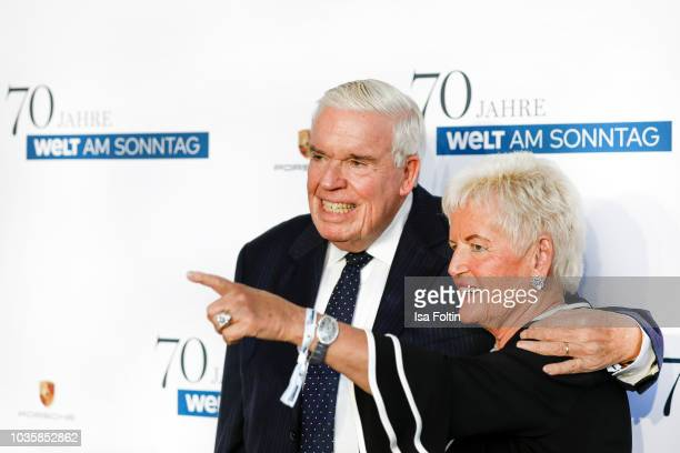 Christine Kuehne and her husband Klaus-Michael Kuehne during the 70th anniversary celebration of the German Sunday newspaper WELT AM SONNTAG at The...