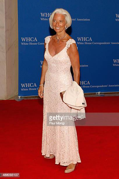Christine Lagarde attends the 100th Annual White House Correspondents' Association Dinner at the Washington Hilton on May 3 2014 in Washington DC