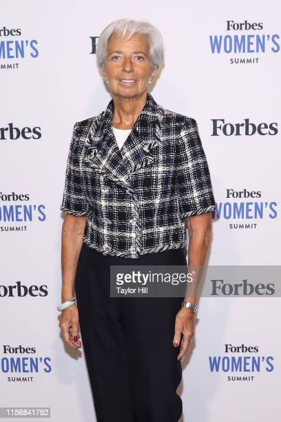 Christine Lagarde attends the 2019 Forbes Women's Summit at Pier 60 on June 18 2019 in New York City