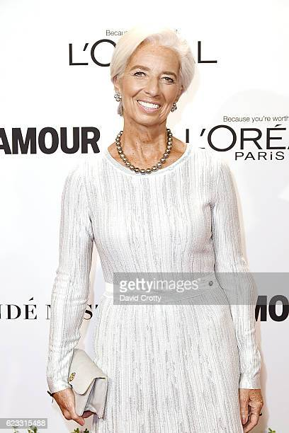 Christine Lagarde attends the Glamour Celebrates 2016 Women Of The Year Awards Arrivals at NeueHouse Hollywood on November 14 2016 in Los Angeles...