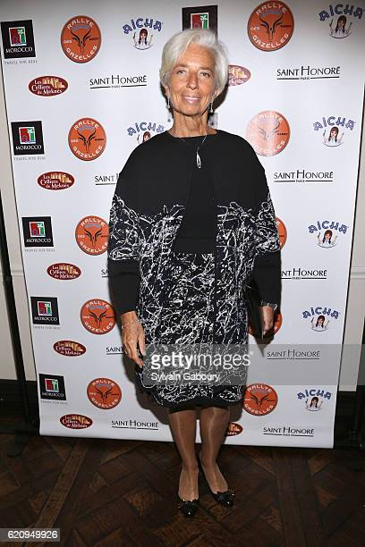 Christine Lagarde attends US Launch of the 27th Rallye Aicha des Gazelles du Maroc with Special Guest Christine Lagarde at Rotisserie Georgette on...