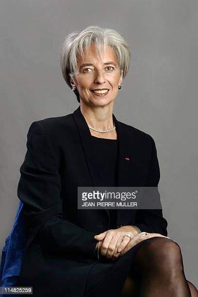 Christine Lagarde Chairman of the Executive Committee of lawyers association Baker McKenzie poses 13 November 2004 in Marseille during the Cite de la...