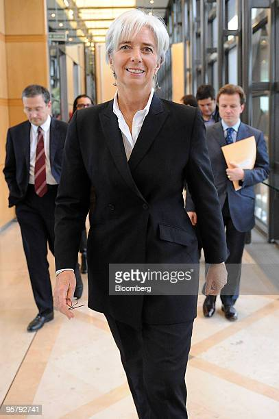 Christine Lagarde France's finance minister arrives for a news conference in Paris France on Friday Jan 15 2010 Lagarde said she has contacted...