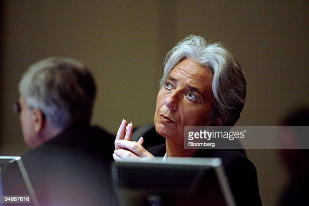 Christine Lagarde, France?s finance minister, attends the G20 Finance Ministers and Central Banking Governors meeting in Kleinmond, South Africa, on...