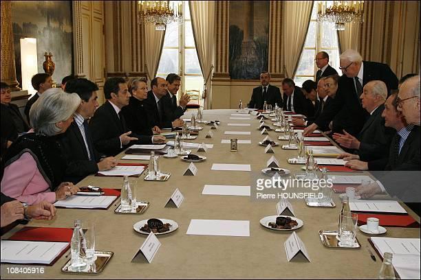 Christine Lagarde, Francois Fillon, Nicolas Sarkozy, Michele Alliot-Marie, Eric Woerth, Christian Blanc, Hugues Hourdin, Philippe Josse, Michel...