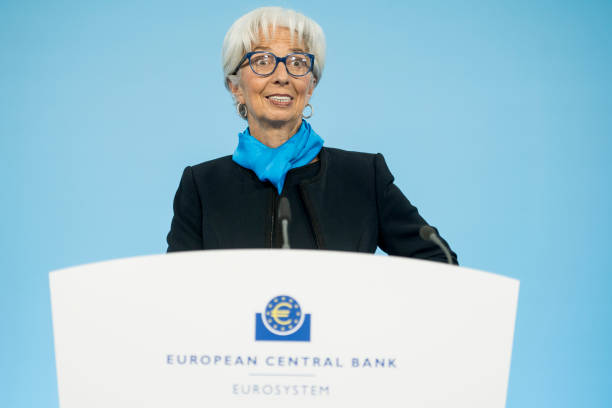 DEU: European Central Bank Press Conference Following Meeting Of ECB Governing Council