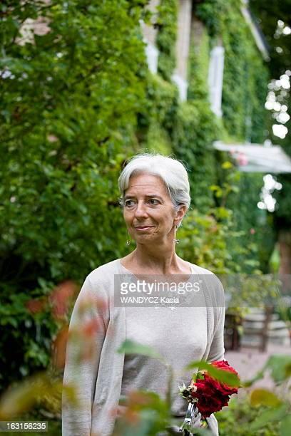 Christine Lagarde In Her House In Normandy. Christine LAGARDE, ministre de l'Economie, nous reçoit chez elle dans sa maison de campagne en Normandie....