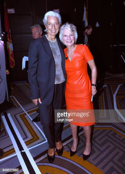 Christine Lagarde Managing Director International Monetary Fund and Hon Jane Harman Director President and CEO Wilson Center pose at The 2017...