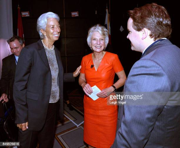 Christine Lagarde Managing Director International Monetary Fund and Hon Jane Harman Director President and CEO Wilson Center speak with Matthew Swift...